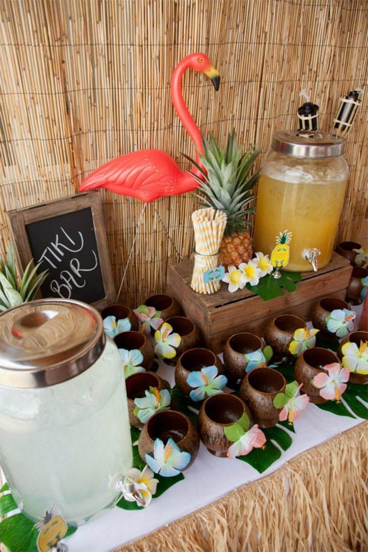 wedding cocktail station